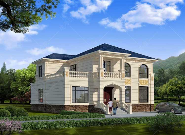 新款农村流行简欧风格二层别墅图纸
