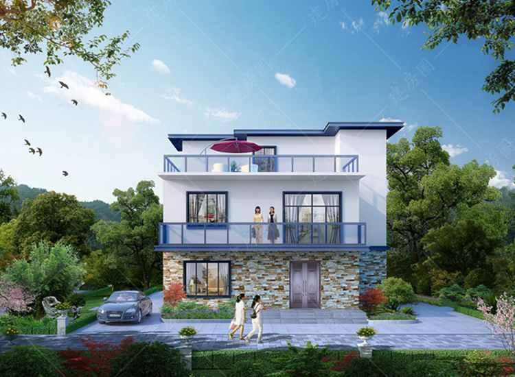 新款漂亮农村三层现代时尚别墅设计图