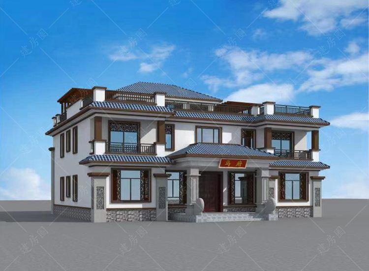 2021农村新中式豪宅别墅设计图