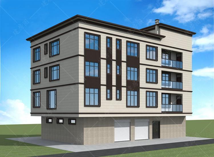 农村四层现代楼房设计图,平屋顶设计