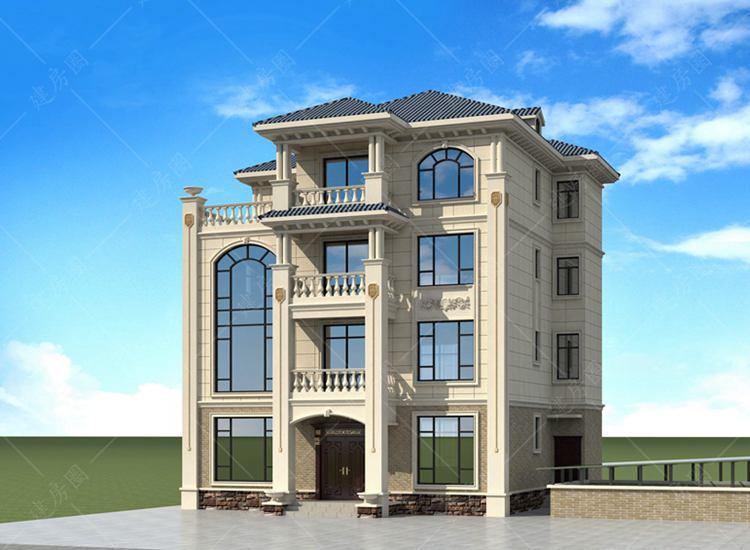 四层欧式别墅设计图,室内带电梯设计