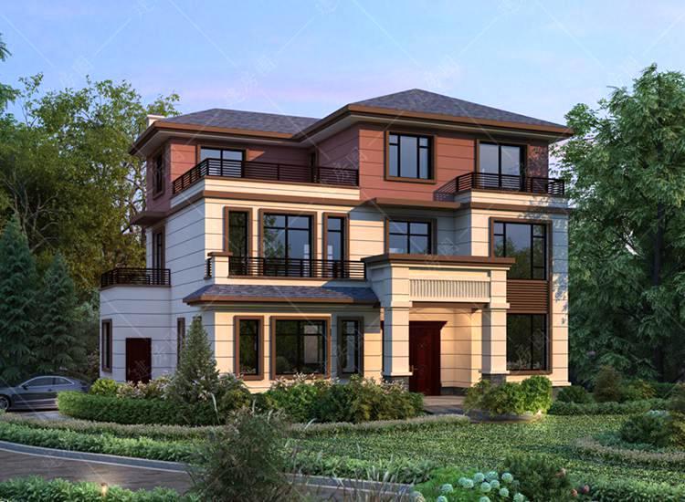 网络爆款推荐三层新中式别墅设计图纸