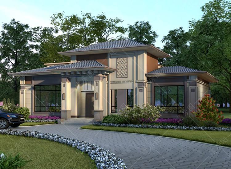 成都龙泉一层半小别墅设计,外观新颖,布局舒适