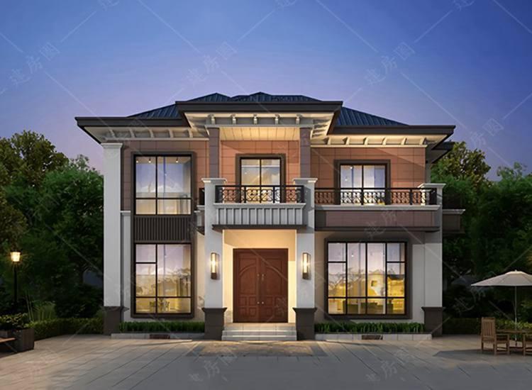 广安武胜二层自建房别墅设计施工,周期短,效果好
