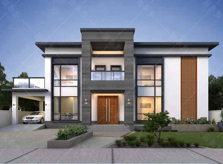 四川眉山两层现代风格别墅设计,带车库更加方便