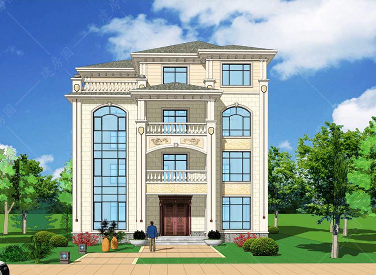农村自建别墅四层设计图纸,外观经典,户型舒适