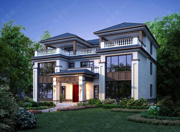 三层农村新中式别墅设计图纸,看过的人都说好看