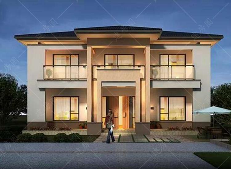 绵阳三台农村二层房屋设计,别墅外观简洁时尚