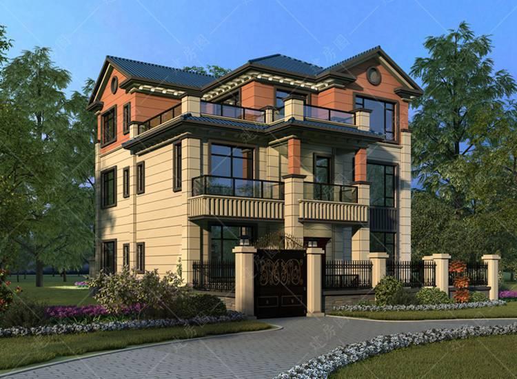 简阳三层农村自建房设计,欧式风格大气时尚