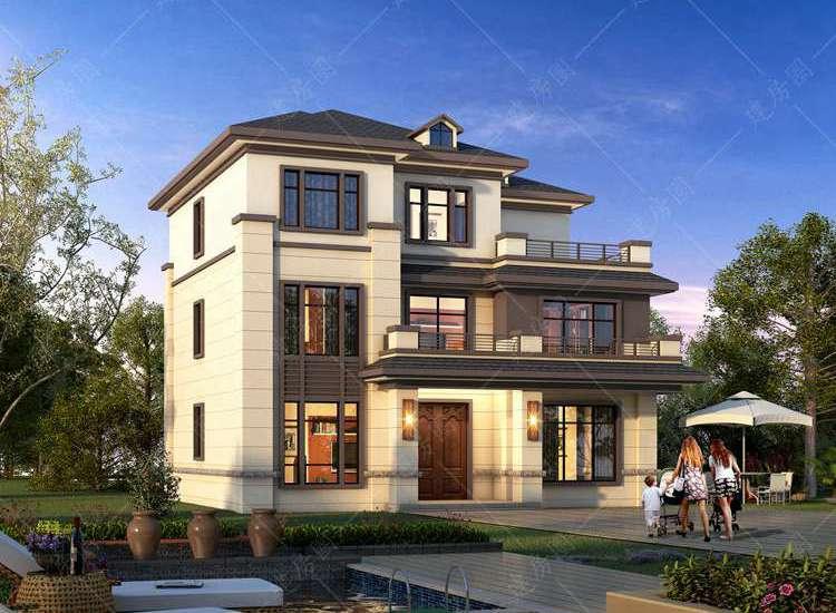 重庆璧山三层新中式自建房设计,外观简洁而雅致