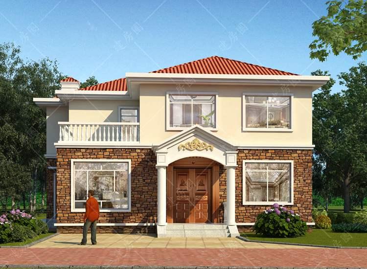 湖南长沙农村二层盖房设计,造价低,简洁好看