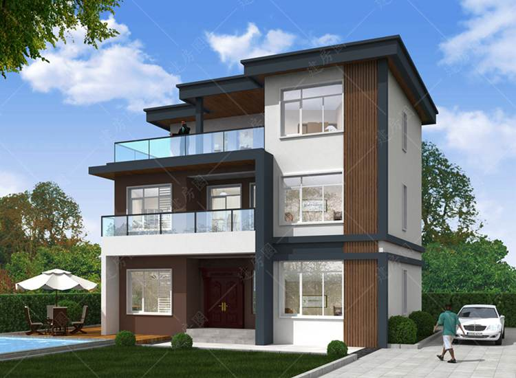 广安邻水三层小别墅设计,现代时尚好看